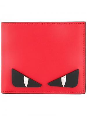 Bag Bugs-appliqué wallet Fendi. Цвет: красный