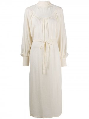 Платье-блузка с поясом Ann Demeulemeester. Цвет: нейтральные цвета