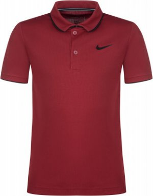 Поло для мальчиков Court Dry Team, размер 137-147 Nike. Цвет: красный
