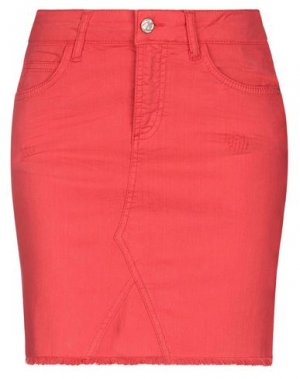 Джинсовая юбка BSB. Цвет: коралловый