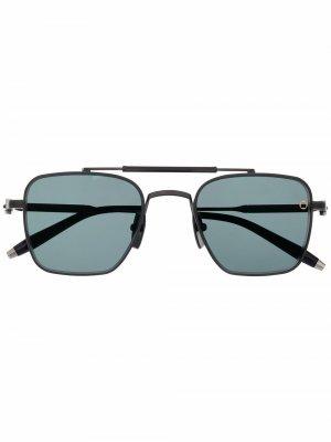 Солнцезащитные очки Europa в квадратной оправе Akoni. Цвет: черный