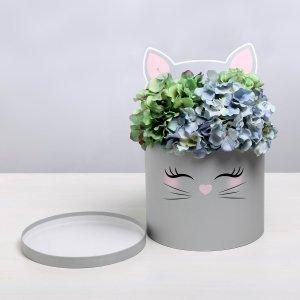 Коробка шляпная для цветов с доп. элементом Дарите Счастье