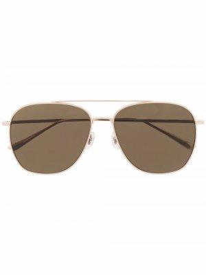 Солнцезащитные очки-авиаторы Ellerston Oliver Peoples. Цвет: золотистый