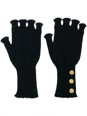 Перчатки без пальцев Thom Browne. Цвет: синий