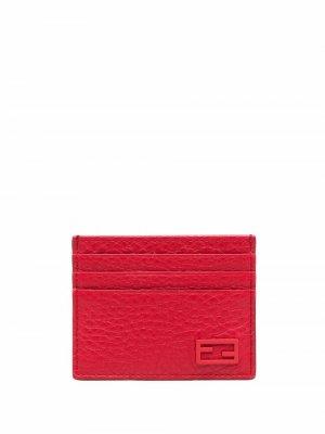 Картхолдер с логотипом Fendi. Цвет: красный