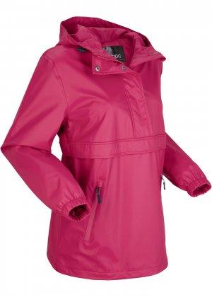 Функциональная куртка-дождевик bonprix. Цвет: ярко-розовый