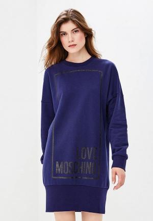 Платье Love Moschino. Цвет: синий