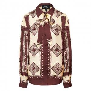 Шелковая блузка Marc Jacobs Runway. Цвет: коричневый