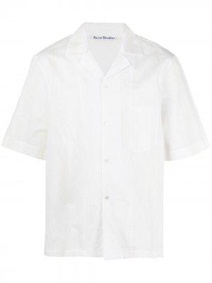 Полосатая рубашка с нагрудным карманом Acne Studios. Цвет: белый