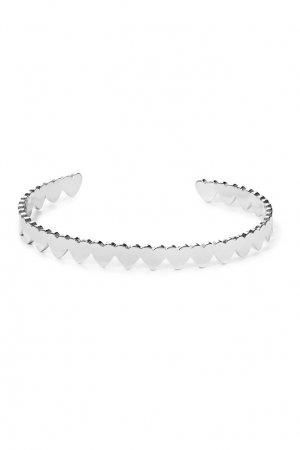 Серебристый фигурный браслет Aqua. Цвет: серебряный
