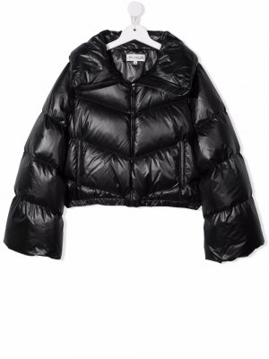 TEEN padded zip-up coat Simonetta. Цвет: черный