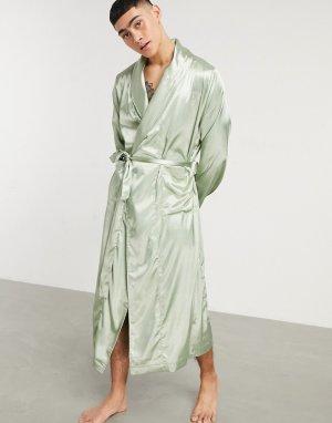 Халат мятно-зеленого цвета -Зеленый цвет ASOS DESIGN