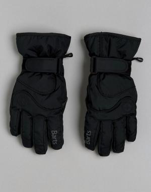 Горнолыжные перчатки Barts. Цвет: черный