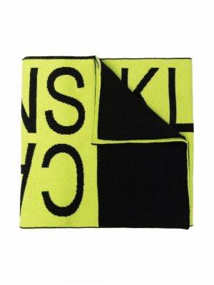 Logo lettering scarf Calvin Klein Kids. Цвет: зеленый