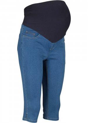 Джинсы капри для беременных bonprix. Цвет: синий