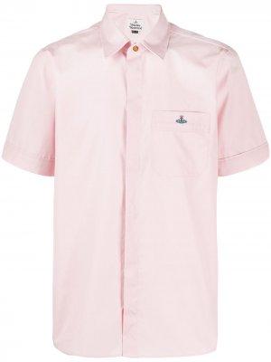 Рубашка с короткими рукавами и логотипом Vivienne Westwood. Цвет: розовый