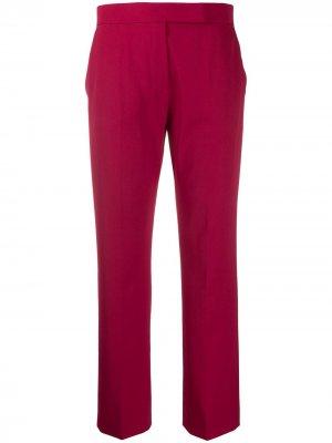 Укороченные брюки прямого кроя Max Mara. Цвет: красный