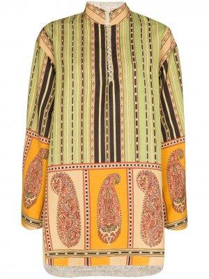 Платье-туника с принтом Etro. Цвет: зеленый