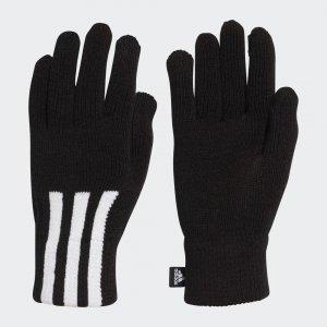 Перчатки 3-Stripes Conductive Performance adidas. Цвет: черный