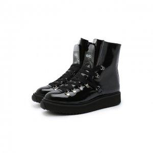 Кожаные ботинки Alaska Kenzo. Цвет: чёрный