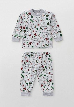 Пижама Youlala. Цвет: серый
