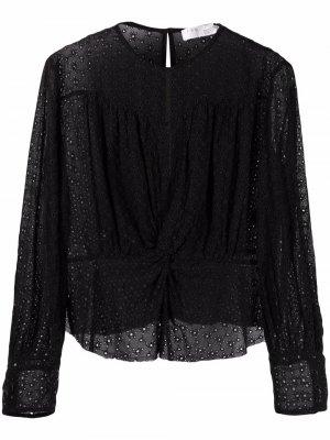 Блузка с вышивкой IRO. Цвет: черный