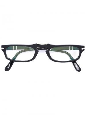 Очки с квадратной оправой Persol. Цвет: черный