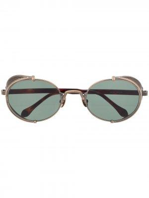 Солнцезащитные очки Steampunk в овальной оправе Matsuda. Цвет: золотистый