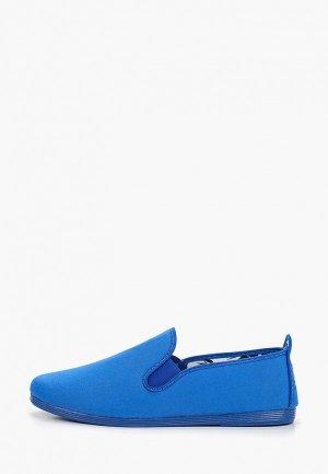 Слипоны Flossy Style. Цвет: синий