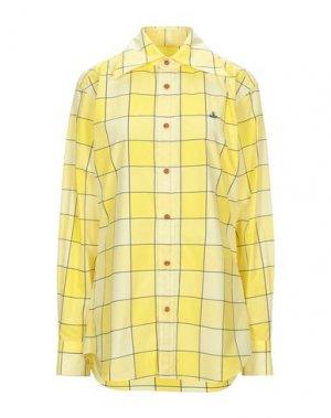 Pубашка VIVIENNE WESTWOOD. Цвет: желтый