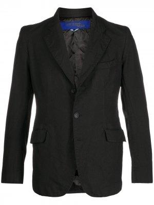 Однобортный пиджак строгого кроя Junya Watanabe MAN. Цвет: черный