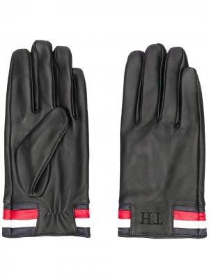 Перчатки с окантовкой в полоску Tommy Hilfiger. Цвет: синий