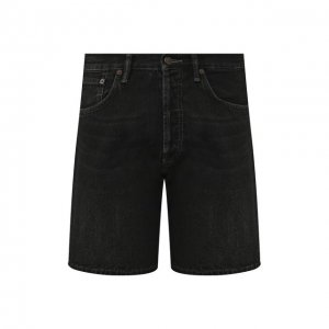 Джинсовые шорты Acne Studios. Цвет: чёрный