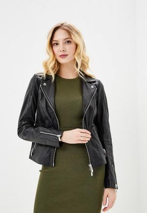 Куртка кожаная Arma AR020EWZSI36. Цвет: черный