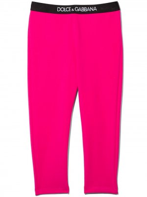 DG BABY GIRL LGGNG W LOG TP WSTBD Dolce & Gabbana Kids. Цвет: розовый