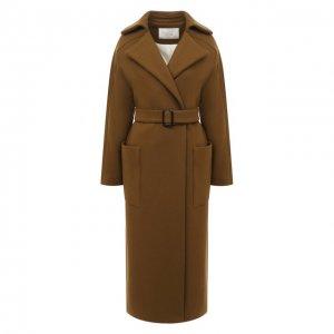 Шерстяное пальто Tela. Цвет: хаки