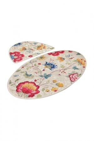 Комплект ковриков для ванной Chilai Home. Цвет: бежевый