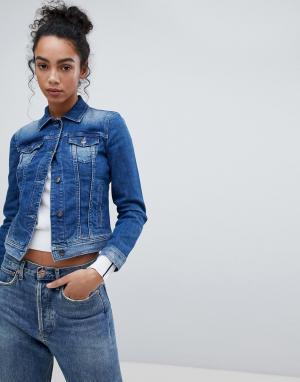 Джинсовая куртка Armani Exchange. Цвет: синий
