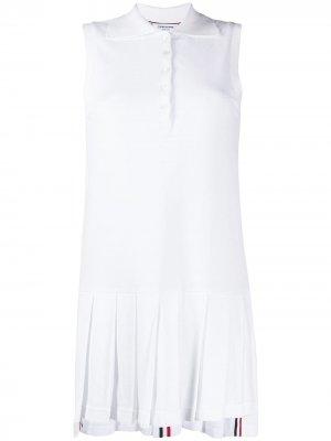 Платье с полосками RWB Thom Browne. Цвет: белый