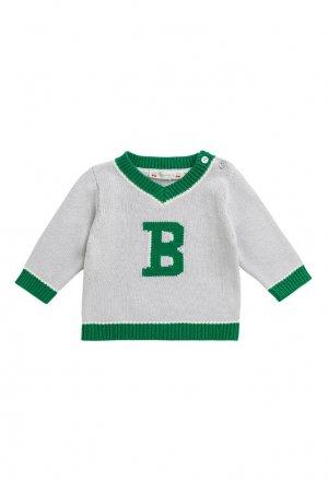 Серый пуловер Bonpoint. Цвет: серый