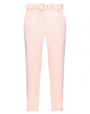 Повседневные брюки FLY GIRL. Цвет: светло-розовый