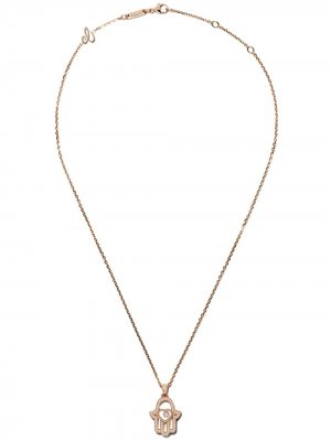 18kt rose gold Good Luck Charms diamond pendant necklace Chopard. Цвет: розовый