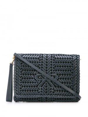 Плетеная сумка через плечо с логотипом Anya Hindmarch