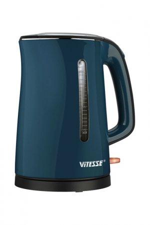 Чайник электрический 1,7л Vitesse. Цвет: синий, черный