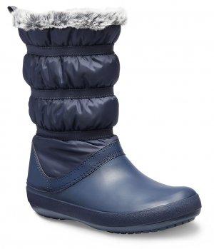 Зимние сапоги женские CROCS Womens Crocband™ Winter Boot Navy (Синий) арт. 205314. Цвет: синий