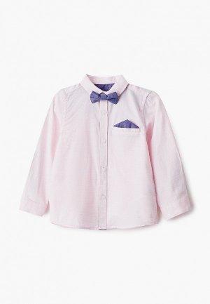 Рубашка Mothercare с галстуком-бабочкой. Цвет: розовый