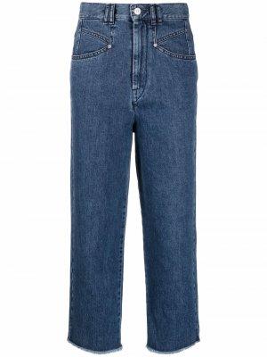 Прямые джинсы с бахромой Isabel Marant. Цвет: синий