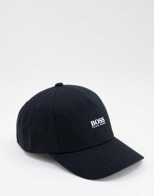 Черная бейсболка с контрастным логотипом BOSS Fresco-Черный цвет
