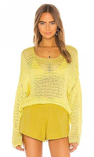 Пуловер mehetia MIKOH. Цвет: желтый