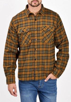 Рубашка Mavango. Цвет: коричневый